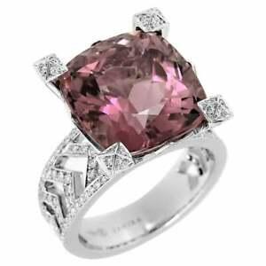 Stunning Pink Tourmaline Crescent Ring
