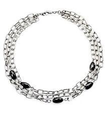 ZOPPINI steel cubic zirconia necklace collana donna acciaio Q1272_210B44 BNIB