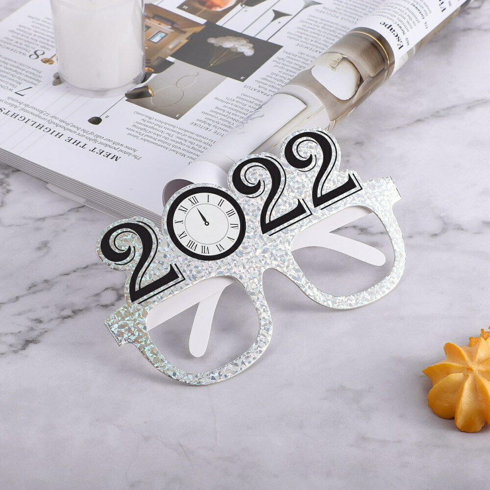6pcs 2022 Chic Party Glasses Glasses Frames for New Year Party