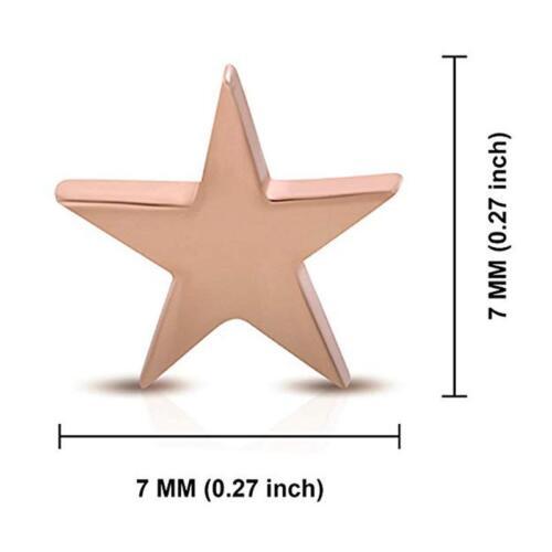 2 Pcs Titanium Steel Unisex Men Women Shooting Star Stud Earrings Jewelry Hot FI