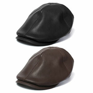 abac8457c5b Lady Men Leather Flat Ivy Cap Women Newsboy Gatsby Bonnet Cabbie ...