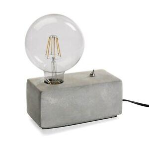 Lampada Da Tavolo Per Scrivania Arredo Casa Base In Pietra Lume Moderno Ebay