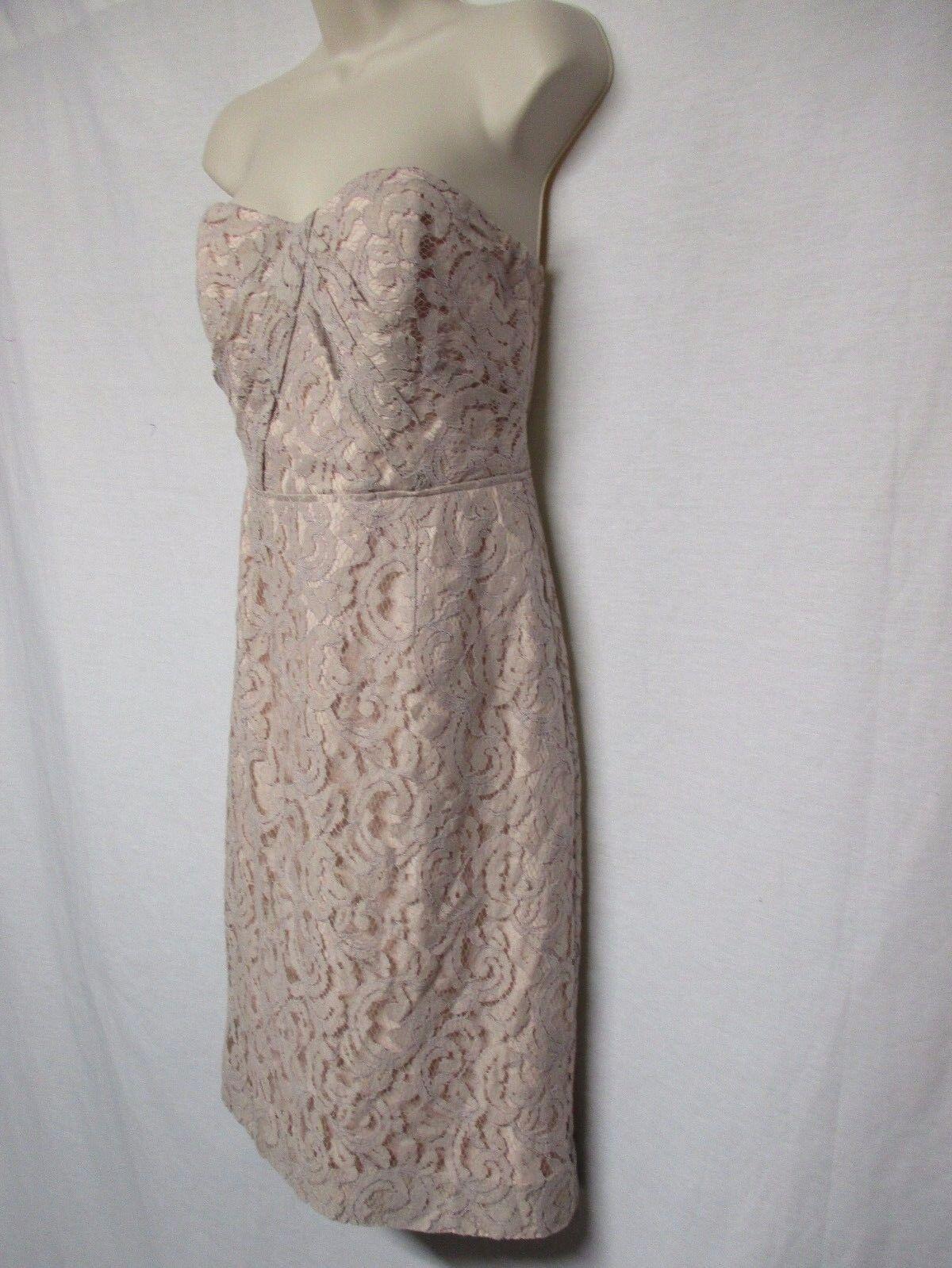 J. CREW CATALINA STRAPLESS LACE LIGHT MAULE DRESS BRIDESMAID BRIDESMAID BRIDESMAID SIZE 2   a4 3be1a8
