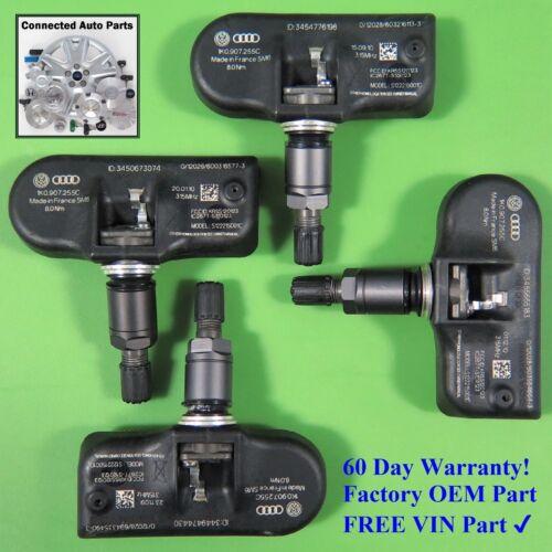 Set of 4 Volkswagen Audi TIRE PRESSURE SENSOR TPMS OEM 1K0 907 255C SET-TS04