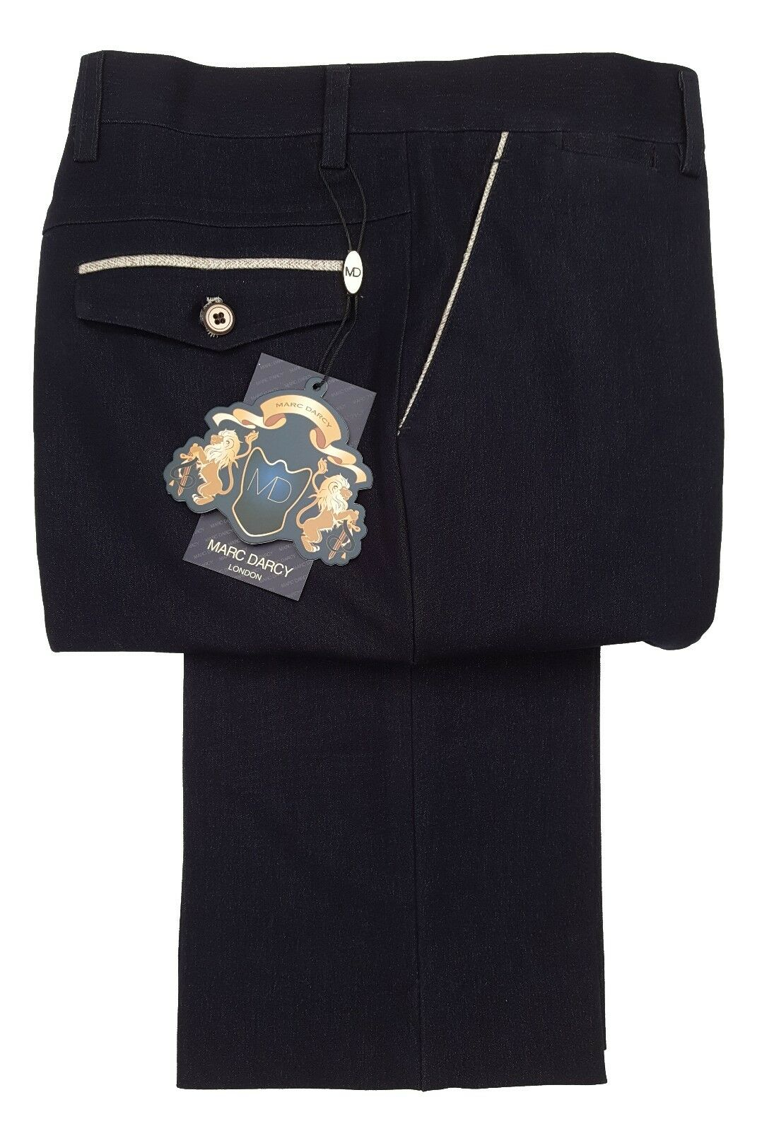 MENS MARC DARCY FORMAL SMART DRESSY TROUSER STYLE WILL - NAVY blueE