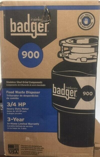 InSinkErator Badger 900 3//4 HP Continuous Feed Garbage Disposer