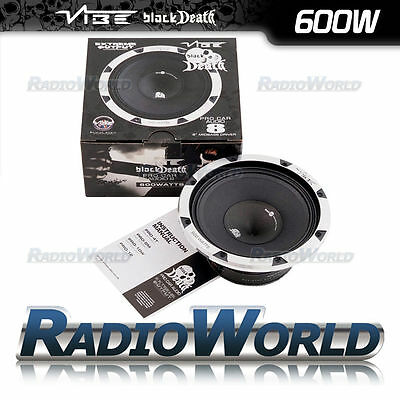 "Vibe Black Death Pro 8 8"" 20cm 600w Mid Bass Driver Audio Speaker 4Ohm"