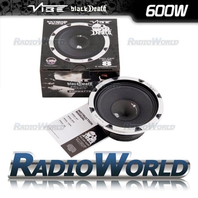 "Vibe Black Death Pro 8 8"" 20cm 600w Mid Bass Driver Audio Speaker 4Ohm"