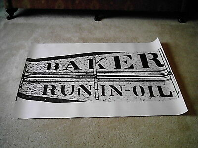 8ft Baker Monitor Windmill Tail Vane Logo Layout for Stencil