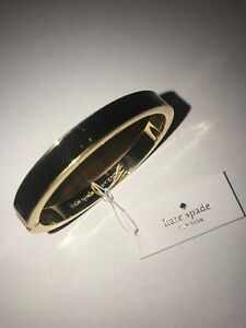Kate-Spade-New-York-Ace-Up-Your-Sleeve-Bracelet-Black-Gold-Perfect-NWT