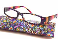 Women's Reading Glasses Optical Quality Paisley Design In 4 Colors