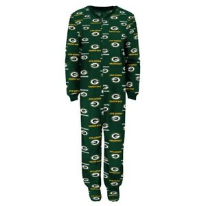33d598a25bd5 Infant Baby Toddler Boys NFL Green Bay Packers Footed Pajamas ...