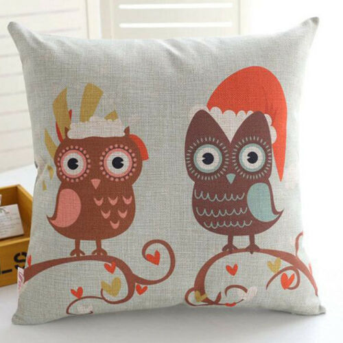 """Sea Animal Decorative Cotton Linen Throw Pillow Case Cushion Cover Sofa Car 18/"""""""