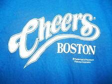 Vintage 1980s BOSTON CHEERS BULL & FINCH PUB 80s TV SHOW Soft Thin T-Shirt Large