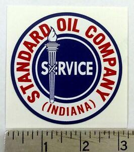 "Vintage Standard Oil sticker decal 3"" diameter"