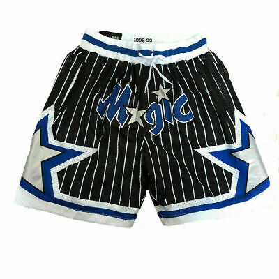 Orlando Magic Basketball Game Shorts Vintage NWT Stitched Jerseys Men/'s Pants@