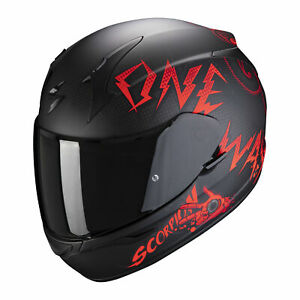 SCORPION-Casque-EXO-390-ONEWAY-BLACK-RED-MOTO-SCOOTER-ROUTE