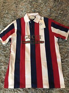 Mens Polo Shirt Niko Khaki Front Back Sport Prints Italia Crest Slim Fit Stretch