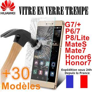 Vitre-Film-de-protection-VERRE-TREMPE-HUAWEI-Mate10-Honor9-8-7-P7-P8-P9-P10-P20