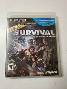 Play-Station-3-Cabela-039-s-Survival-Shadows-of-Katmai-Video-Game-Case-Disc-Tested