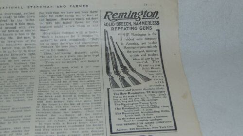 1909 REMINGTON SOLID BREECH HAMMERLESS REPE AND GALLOWAY AND OTHER ADVERTISING