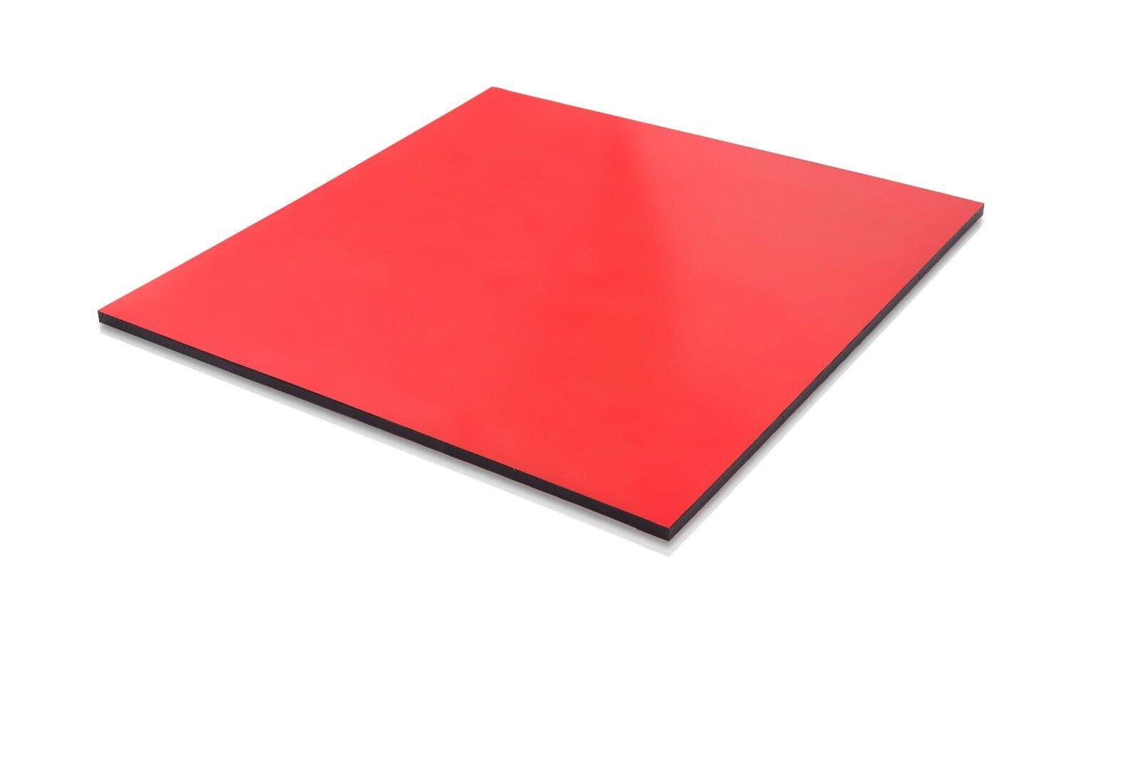 En Plastique Rouge (PEHD) Planche à découper 0.500  - 1 2  X 24  x 48  FDA Nsf