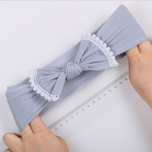 Fashion Girls Bow Tie Headbands Children Elastic Turban Head Hair Wrap CB