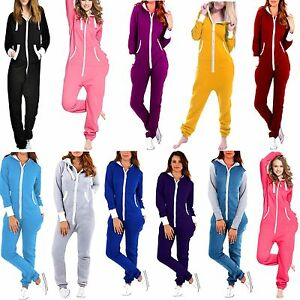 26231b92537 Image is loading SkylineWears-Womens-Non-Footed-One-Piece-Pajamas-Hooded-