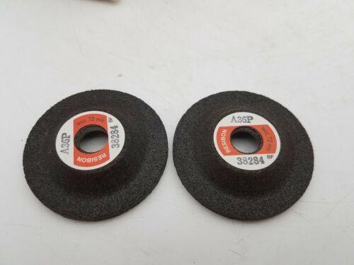25 Piece Lot Resibon A36P Grit 50mm x 4mm x 9.53mm Metal Grinding Disc New