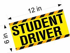 Student Driver Magnet SINGLE Vehicle Car Signs / Magnetic Decal / LARGE