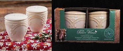 The Pioneer Woman Stoneware Vintage Floral Bird Salt Pepper Shakers Farmhouse