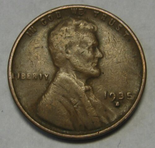 1935-S Lincoln Wheat Cent in Average Circulated Condition DUTCH AUCTION