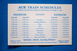 Altamont-Commuter-Express-ACE-Timetable-10-19-98