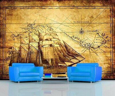 ANCIENT EXPLORER MAP VINTAGE WORLD Photo Wallpaper Wall Mural  335x236cm