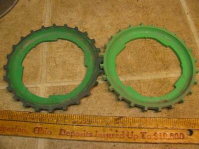 2 John Deere B7-24 Corn Planter Plates Lustran Plastic 494 694 24B 25b