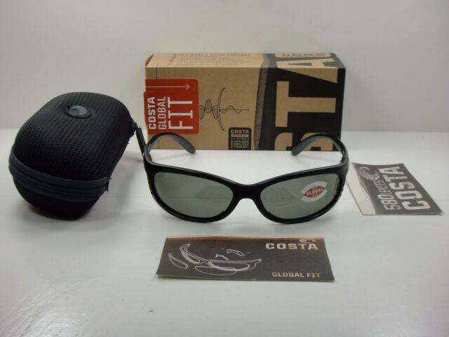 389344c5558f2 Costa Del Mar Sunglasses 580g Fathom Global Fit Matte BLK Gray FA 11gf  OGGLP M