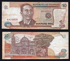10 piso Republika Pilipinas 1985/94  BB/VF