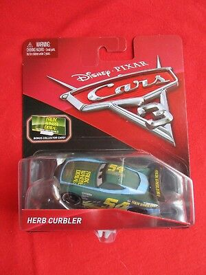 Disney Pixar Cars 3 Herb Curbler Faux Wheel Drive 54 Collector Card /& MiniPoster