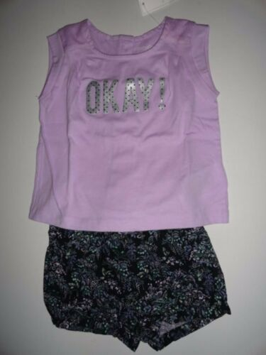 NWT Baby Gap 12-18 3T//Years OKAY Statement Lilac T-shirt+Floral Bubble Shorts