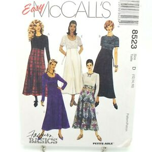 Easy-High-Waisted-Maxi-Dress-Sewing-Pattern-8523-McCalls-Size-12-14-16