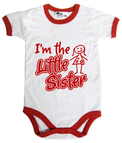 """Little Sister Bodysuit /""""I/'m the Little Sister/"""" Baby Girl Baby grow Vest Gift"""
