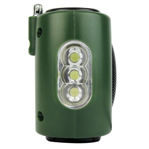 Solar Powered Hand Crank LED Hiking Lantern Flashlight FM//AM//SW Radio Charger