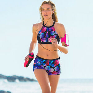 Womens Sporty Tankini Boys Shorts Bikini Set Swimwear Swimsuit Bathing Beachwear