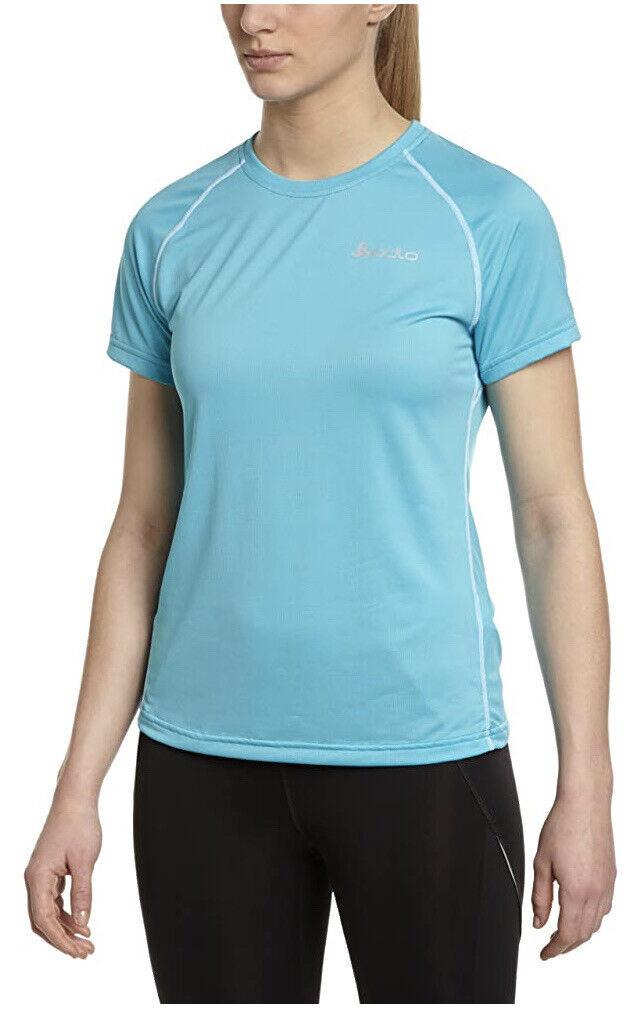 Odlo Alexandra Women's Short Sleeve T-Shirt. Baby Blue Small (8/10) rrp!!