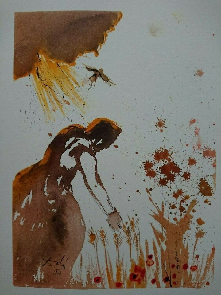 Litografi, Salvador Dali, b: 33,5 h: 40
