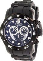 Invicta Men's Pro Diver 6986 Black Rubber Swiss Chronograph Watch