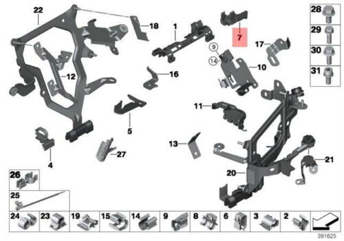 Genuine BMW E71 F01 F01N Lambda Probe Oxygen Sensor Bracket OEM 12517575196