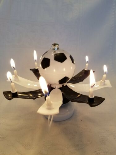 "MAGICAL BIRTHDAY CANDLE TROPHY SOCCER BALL Black /& White/""  Buy form USA Distribu"
