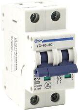 Yuco 2 Pole Miniature Circuit Breaker Din Rail Mountable Bcd Curve 1 63 Amp