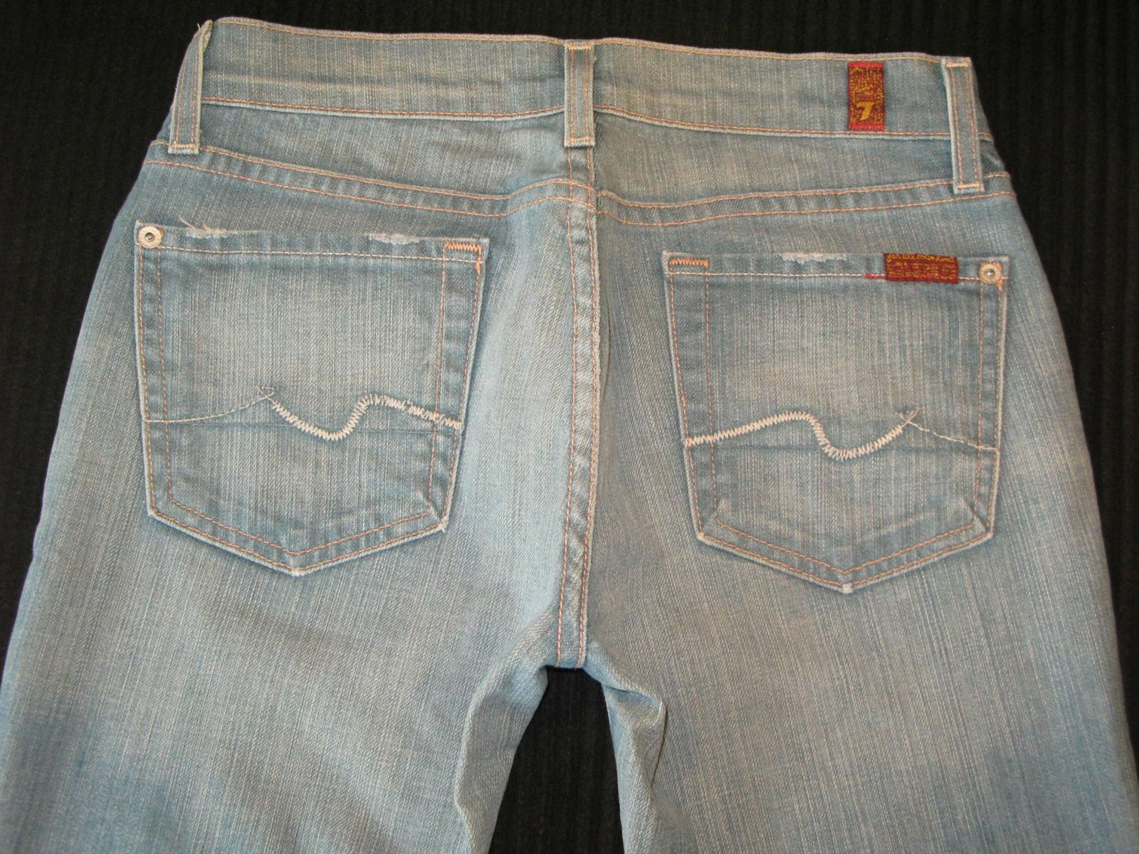 7 for all Mankind Womens Bootcut Jeans Sz 26 w Stretch USA made